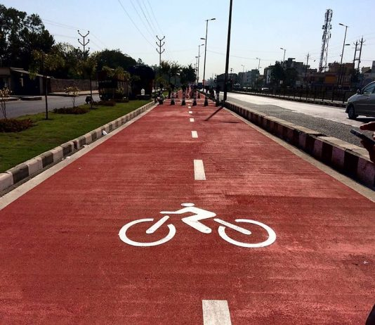 A cycling track in Bhopal