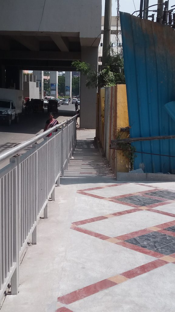 Extremely Narrow footpath with high boundary wall which is highly unsafe (Hyderabad)